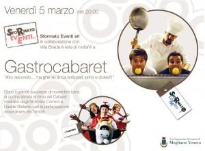 Venerdi 5 marzo al via la seconda serata di Gastrocabaret